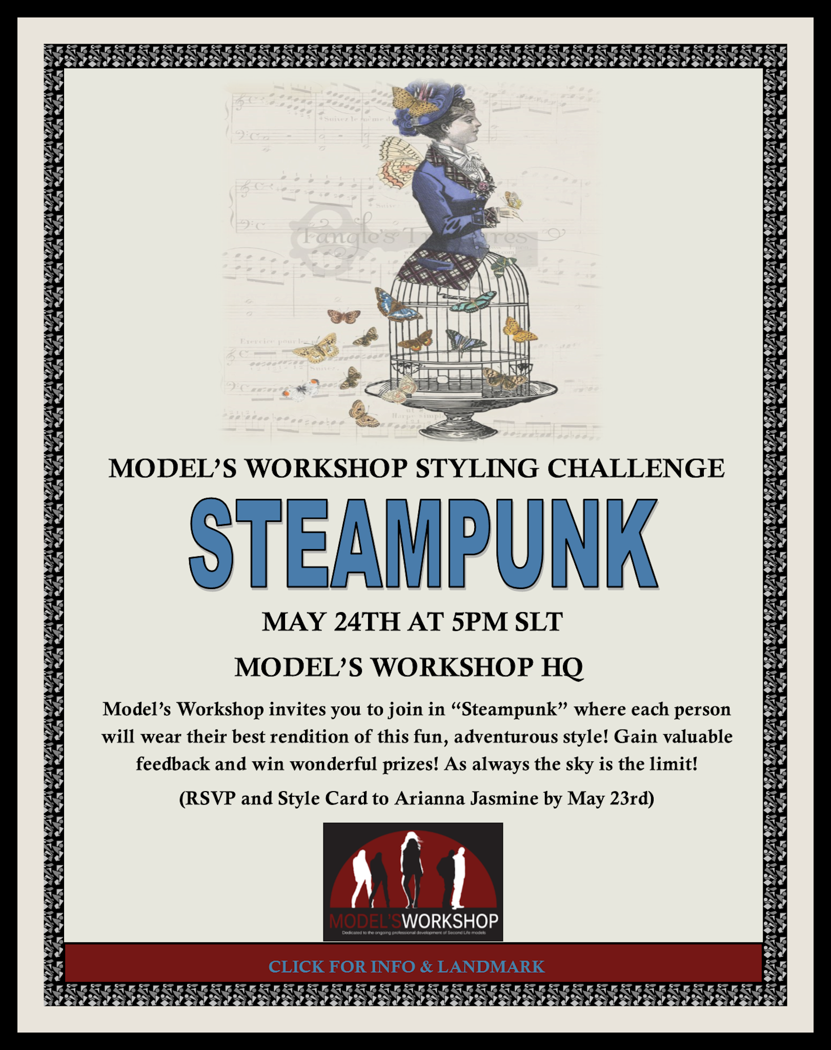 """YOU ARE INVITED TO THE MW MAY STYLING CHALLENGE """"STEAMPUNK"""